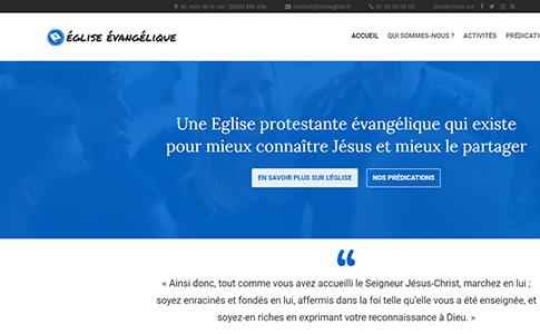 Page d'accueil site d'Église